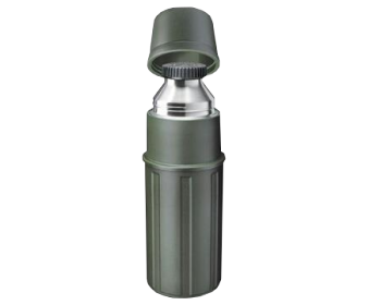 ISOSTEEL FLASK STAINLESS STEEL GREEN 1L
