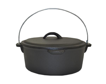 BASECAMP POT FLAT BOTTOMED WITH LID AND HANDLE BASECAMP 225X100MM