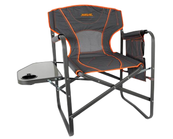 BASECAMP Chair Director With Table Aluminium